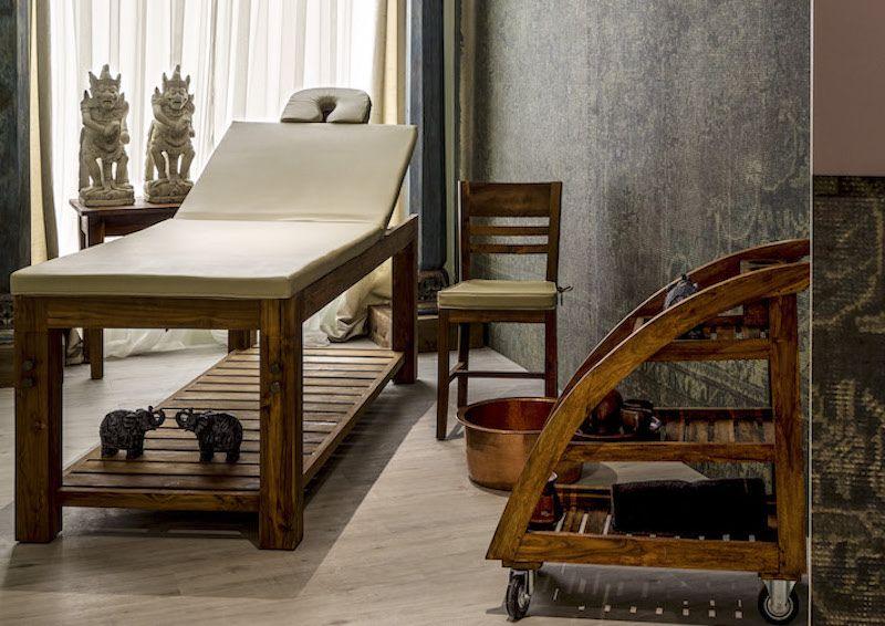 Łóżko do masaży egzotycznych spa